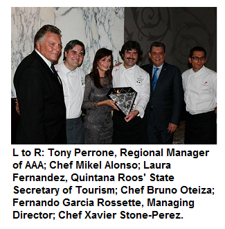 Grand Velas Riviera Maya Cocina de Autor Wins AAA Five Diamond