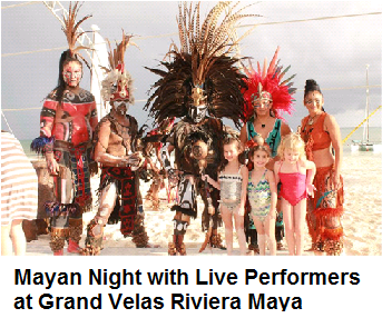 Mayan Lights with Live performers in Grand Velas Riviera Maya