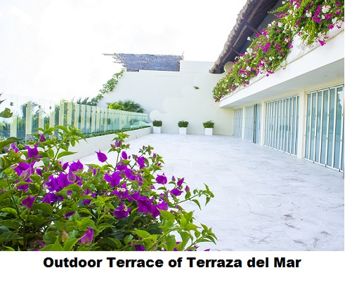 Outdoor Terrace of Terraza Del Mar