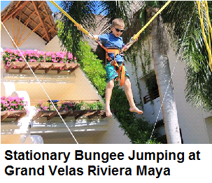 Stationary Bungee Jumping in Grand Velas Riviera Maya